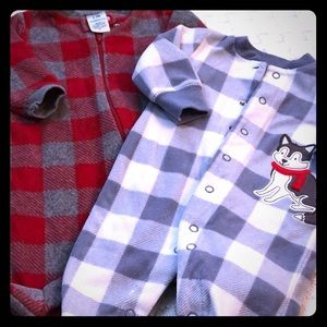 Carter's Fleece Plaid Pajama Bundle! 3 M